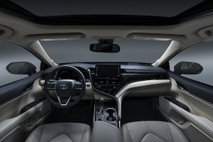 Interior of the 2021 Camry XLE