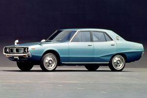"""Nissan Skyline, often called as """"Yonmeri"""" for the 4-door model"""
