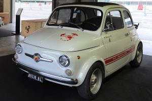 The Abarth 695SS had its rear hood permanently opened to cool its engine