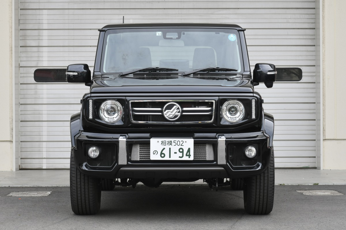 The Jimny Sierra with a third-party body kit