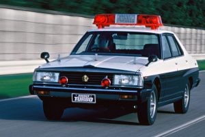 Fifth generation Skyline 2000GT was also used as a police vehicle