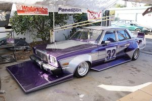 A Toyota Cressida built with bosozoku style by Moonlight Runners