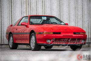 1990 Toyota Supra in red sold for $74,800(photo:Barrett Jackson Auction)