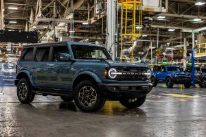 The all-new Bronco assembled at Ford's Michigan plant
