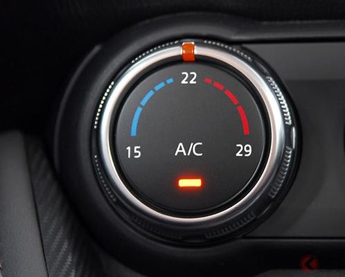 国産車は25度、欧州車は22度設定がエアコン効率が良い