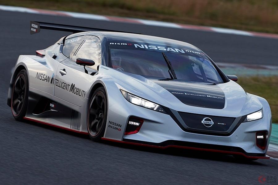 日産が2019年にお披露目した新型EVレーシングカー「NISSAN LEAF NISMO RC」