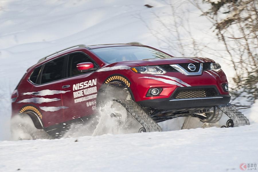 急なドカ雪時にクローラー付きのクルマでなければ無用な外出は控えたほうが賢明です