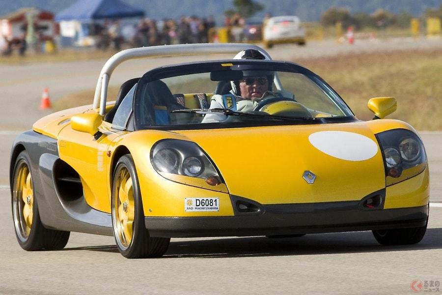 公道走行が可能なレーシングカーのルノー「スポールスピダー」