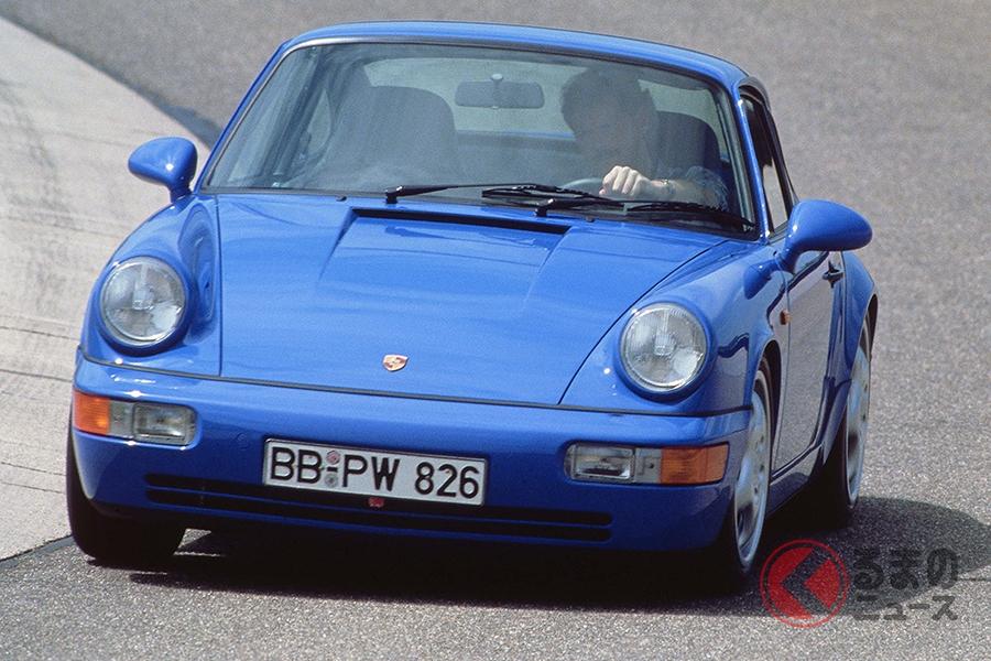 限定車はマリタイムブルーのボディカラーを採用する(写真はポルシェ911 タイプ964)
