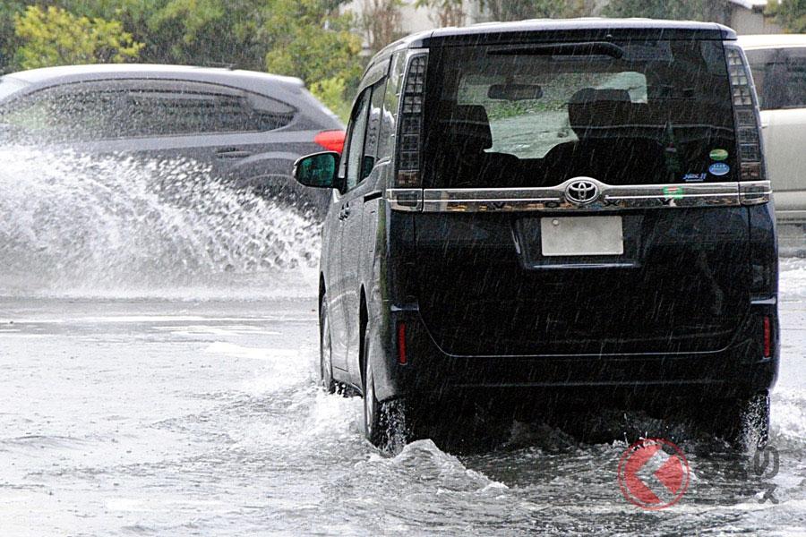 道路が冠水すると危険