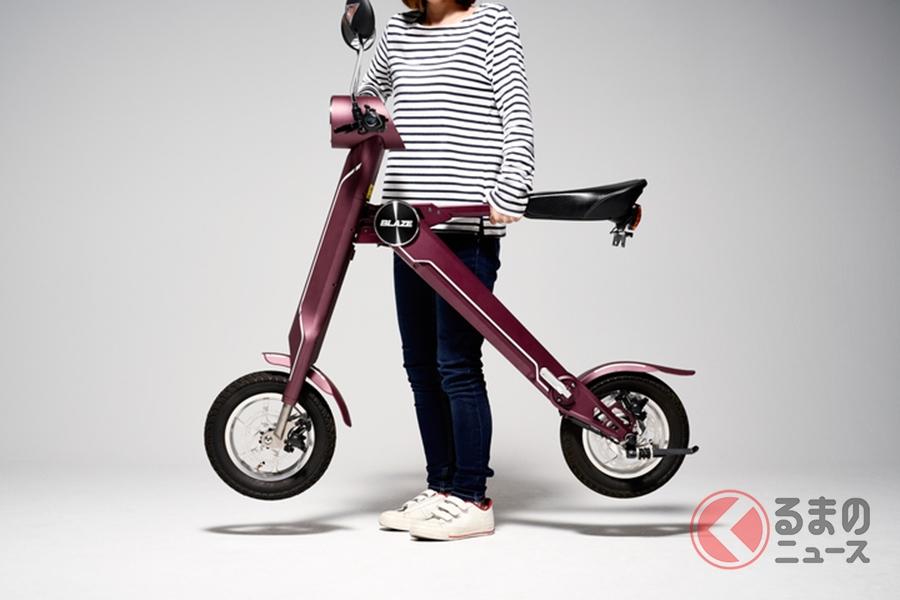 ダンボールで届く電動折りたたみバイク「ブレイズスマートEV」