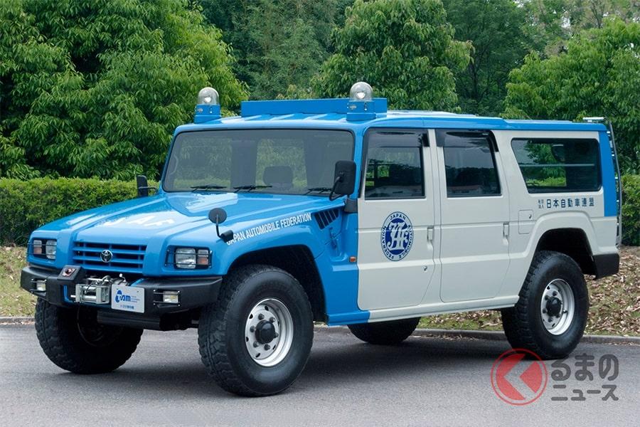 平和利用が目的で開発された和製ハマー「メガクルーザー」(画像はJAF車両)