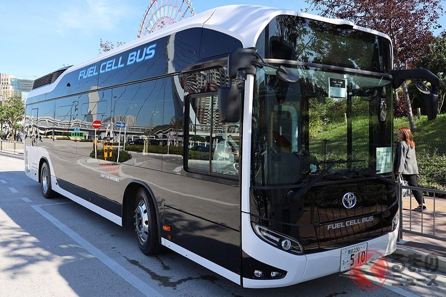まるでガジェット!? 量販型燃料電池バス「SORA(ソラ)」