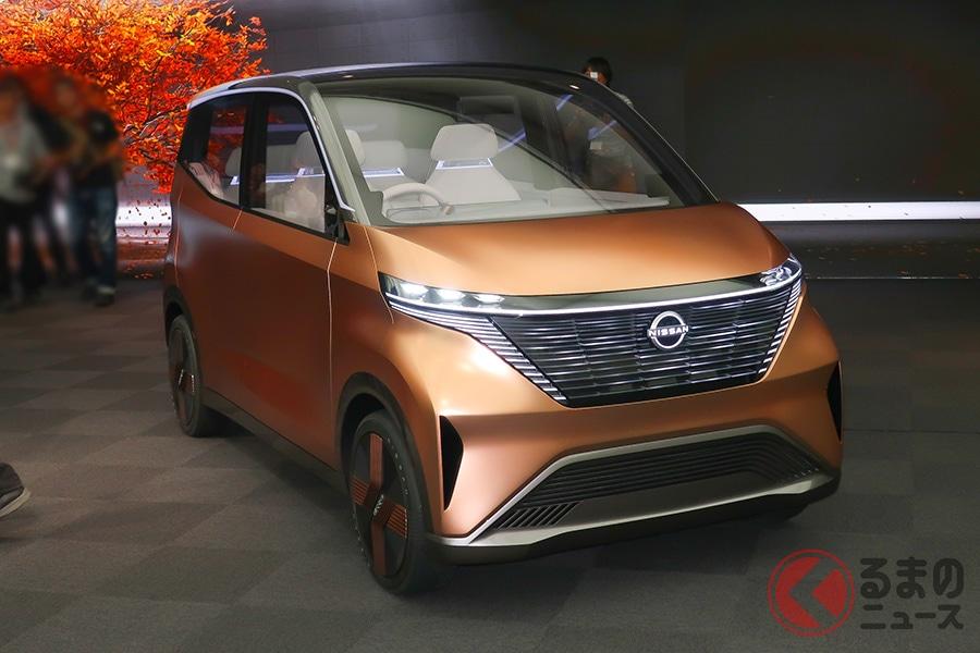 日産が「東京モーターショー2019」でお披露目した「ニッサン IMk」。これが近い将来に登場するのでしょうか。