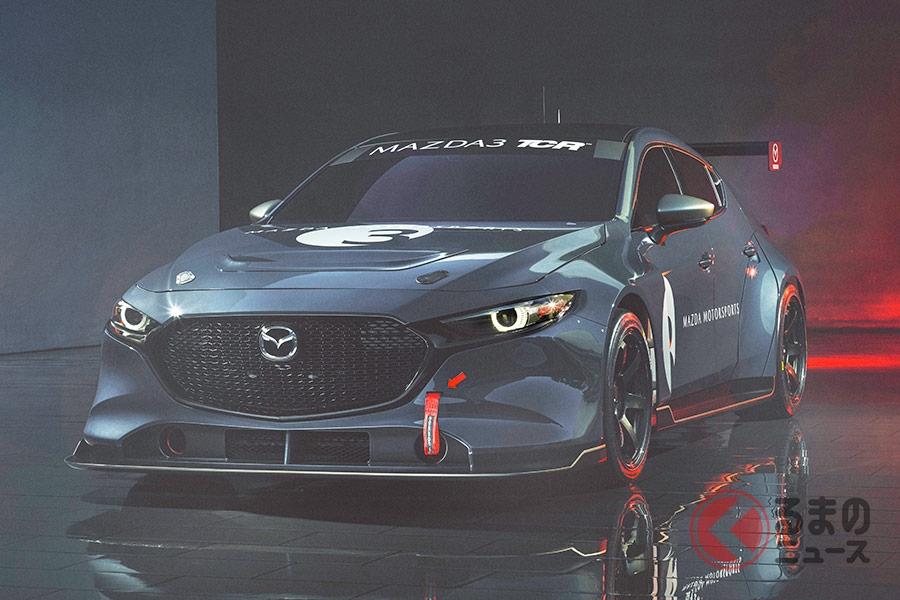 マツダモータースポーツが発表した「マツダ3 TCRレースカー」