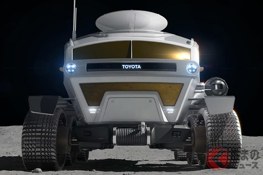 宇宙航空研究開発機構(JAXA)とトヨタの共同研究により、開発される予定の燃料電池車の技術を用いた月面モビリティー「有人与圧ローバ」のイメージ