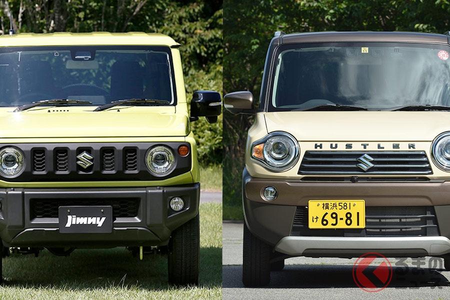 スズキを代表する軽SUVの「ジムニー」と「ハスラー」