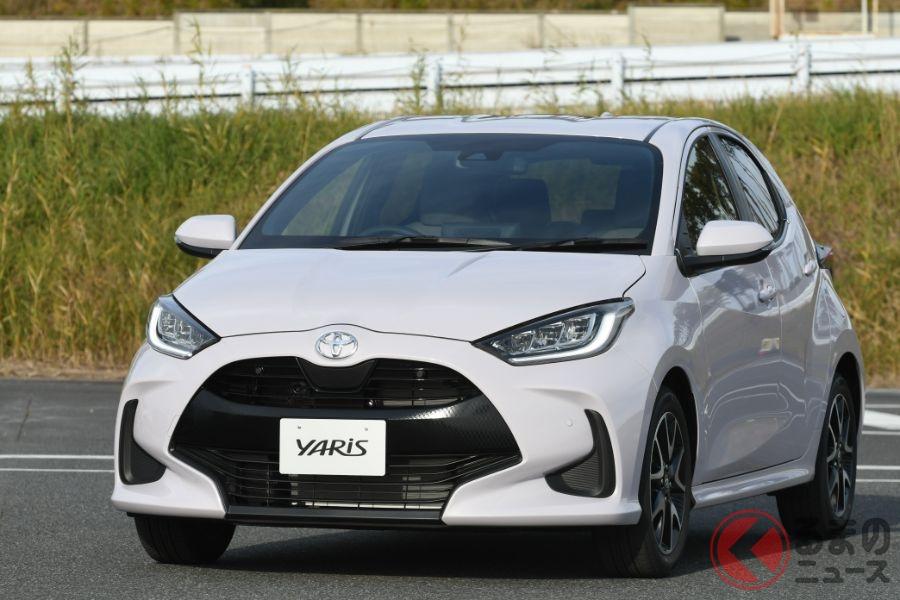 公表されているWLTCモード燃費でもっとも優れているトヨタ「ヤリス」