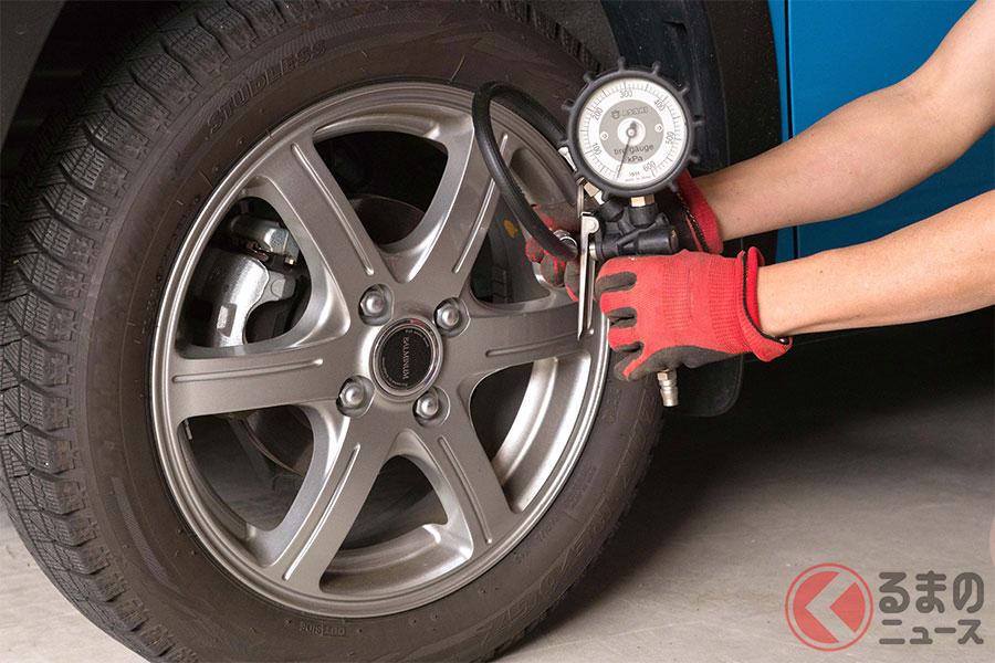 安全を考えるとタイヤの空気圧はこまめにおこないたいもの