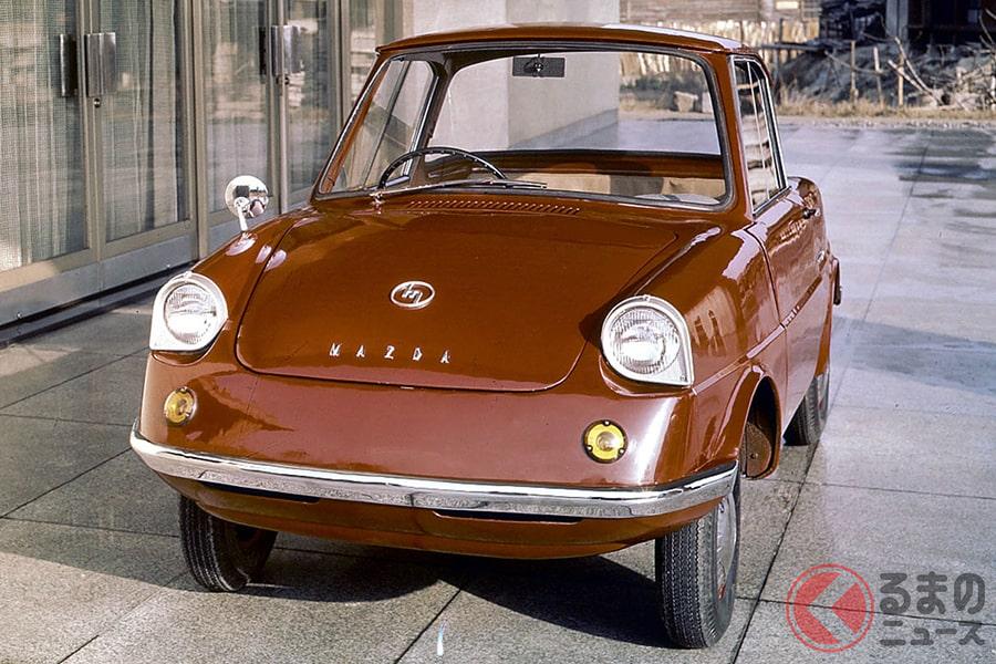 1960年に発売したマツダ初の4輪自動車「R360クーペ」