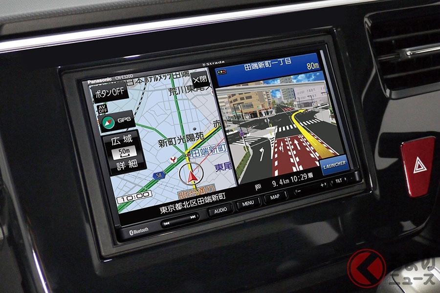 パナソニックが発売予定のAV一体型カーナビゲーション「ストラーダ」の新製品 7V型ワイドVGA搭載SSDカーナビステーション「CN-E320D」