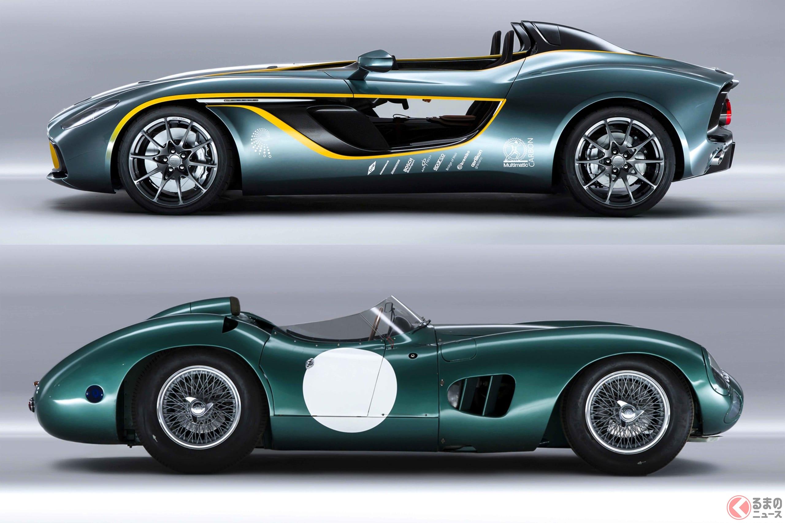 「V12スピードスター」は、レーシングカーの「DBR1」とコンセプトカーの「CC100スピードスター・コンセプト」の系譜を受け継ぐ