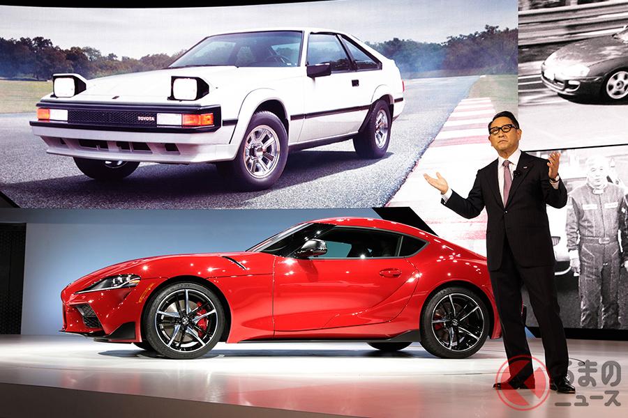 デトロイトショー2019、トヨタブースの様子。トヨタは2019年、デトロイトショーでGRスープラを世界初公開した