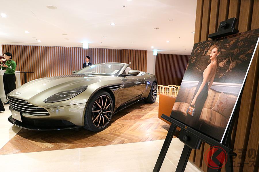 英国ブランド繋がりということで、アストンマーティン東京で、アスプレイのコレクションイベントが開催された