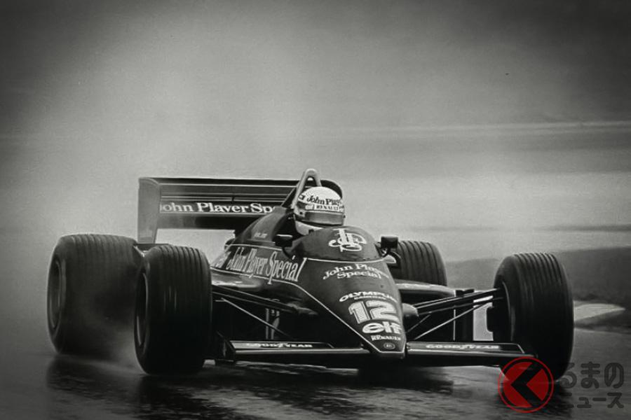 1985年のポルトガルGP、優勝したアイルトン・セナ (c)Classic-Team-Lotus