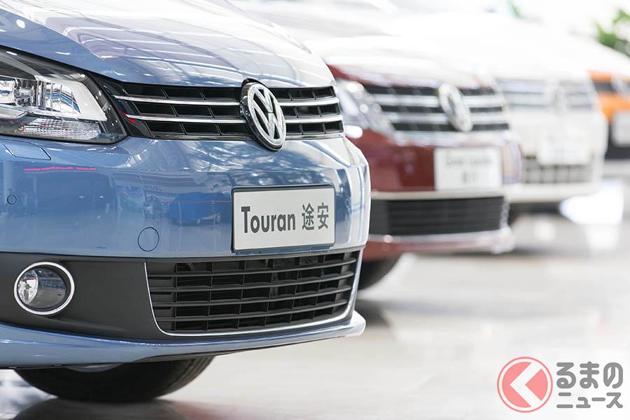 中国の上海にある上汽大衆汽車・安亭工場で製造されたVWトゥーラン