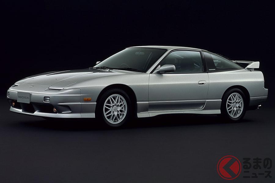 いかにもスポーツカーといったフォルムが印象的な「180SX」