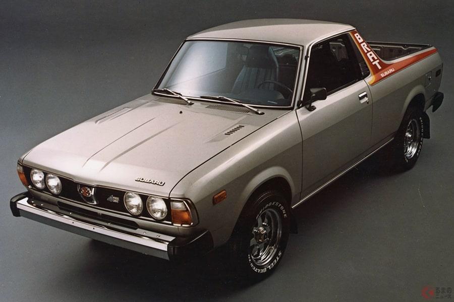 日本未発売だったピックアップトラック、スバル「ブラット」の初期モデル