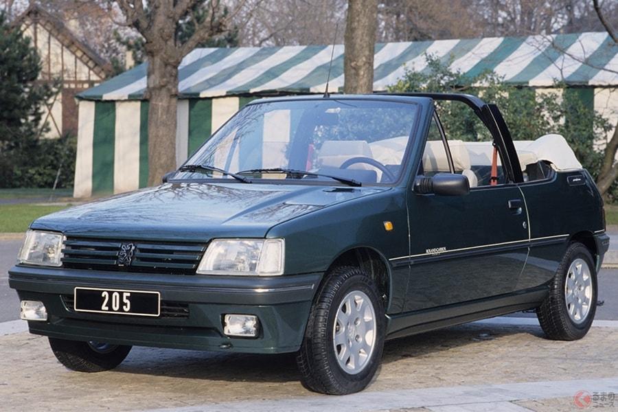 オシャレなフランス車として人気だった「205」のカブリオレ(画像は限定車の「205 ローランギャロス」)
