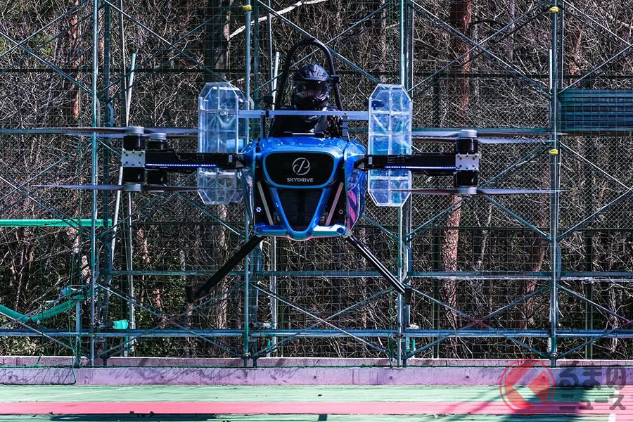 スカイドライブがおこなう空飛ぶクルマの開発の様子