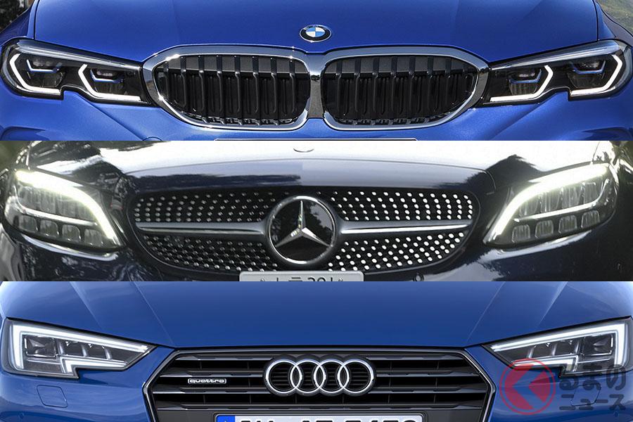 BMW「3シリーズ」とメルセデス・ベンツ「Cクラス」、アウディ「A4」。永遠のライバル同士だ