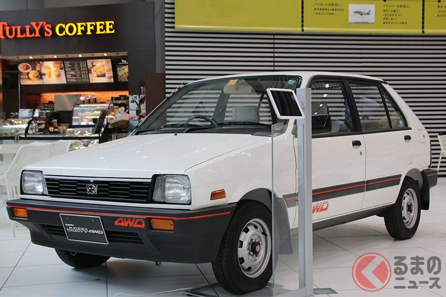 1987年に登場したスバル「ジャスティ」。「ECVT」という名称のCVTを搭載