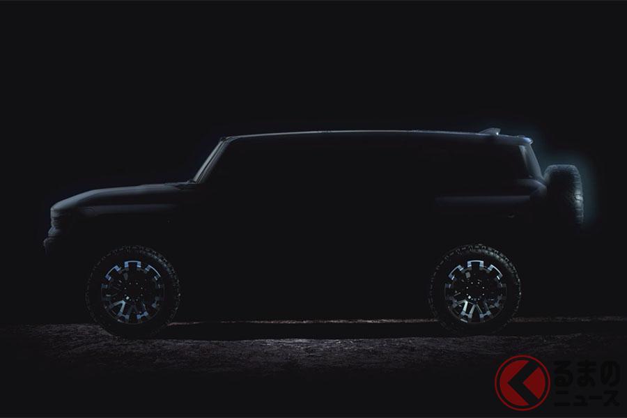 公開されたハマーEVの最新動画。SUVシルエットで、かつてのハマーH2やH3を彷彿とさせるデザインだ