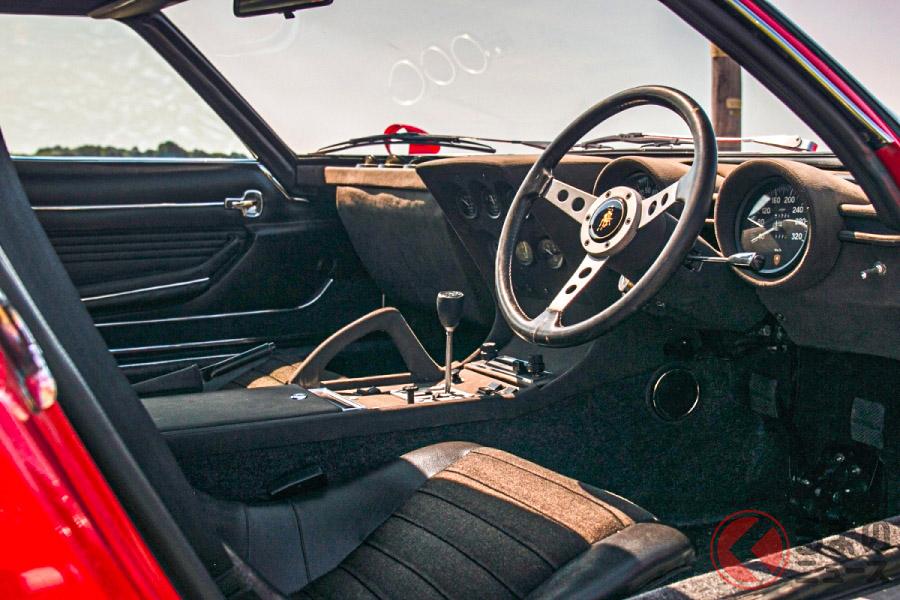 たった11台しか生産されていない右ハンドル仕様の「ミウラP400SV」(C)SILVERSTONE AUCTIONS