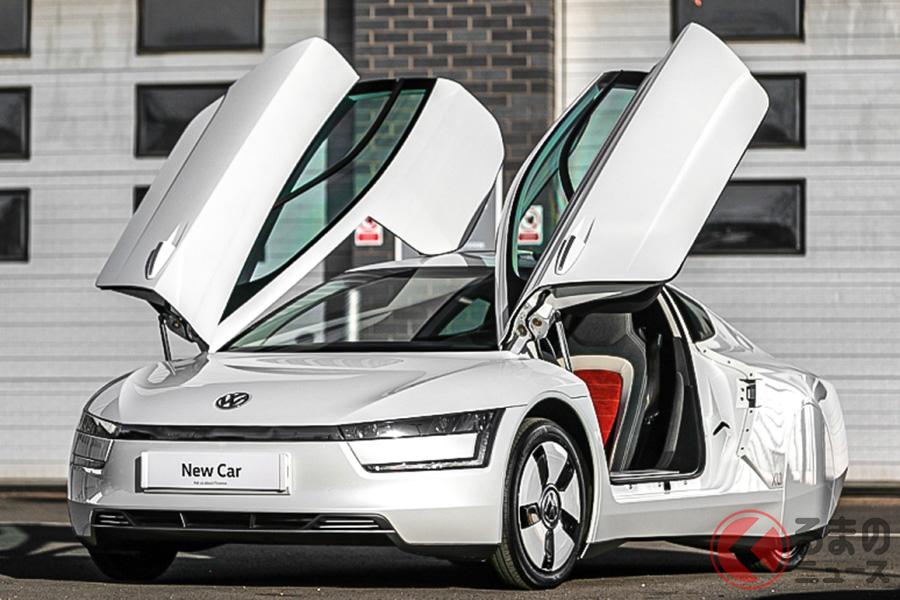 2014年当時は1000万円オーバーしていた新車価格だが、オークションではその6割程度の落札価格となったVW XL1(C)SILVERSTONE AUCTIONS