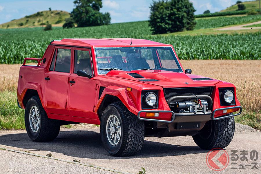 もともと軍用車として開発していた「チータ」を祖として開発されたランボルギーニ「LM002」(C)2020 Courtesy of RM Sotheby's