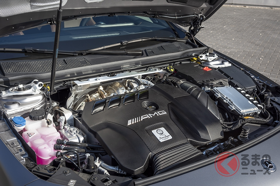 メルセデスAMG「A45 S 4MATIC+」「CLA45 S 4MATIC+」に搭載されるM139型エンジン
