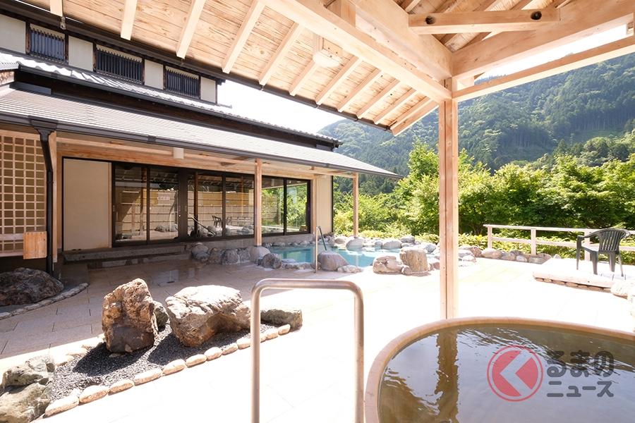露天風呂をはじめ11種類もの湯船で名湯が楽しめる「道の駅 飯高駅」