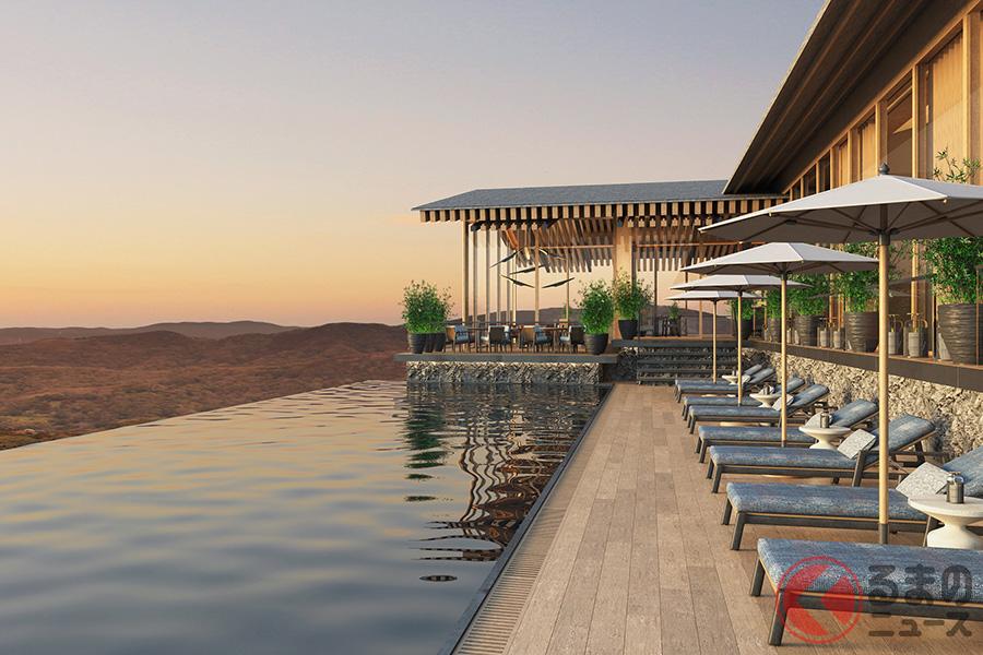 フィットネスジムや25mプール、スパ、天然温泉で体を休めリラックスすることも可能となるクラブハウス