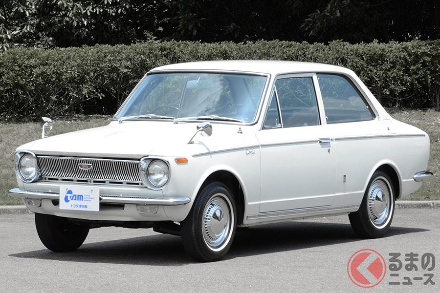 後にトヨタを代表する大衆車となった「カローラ」