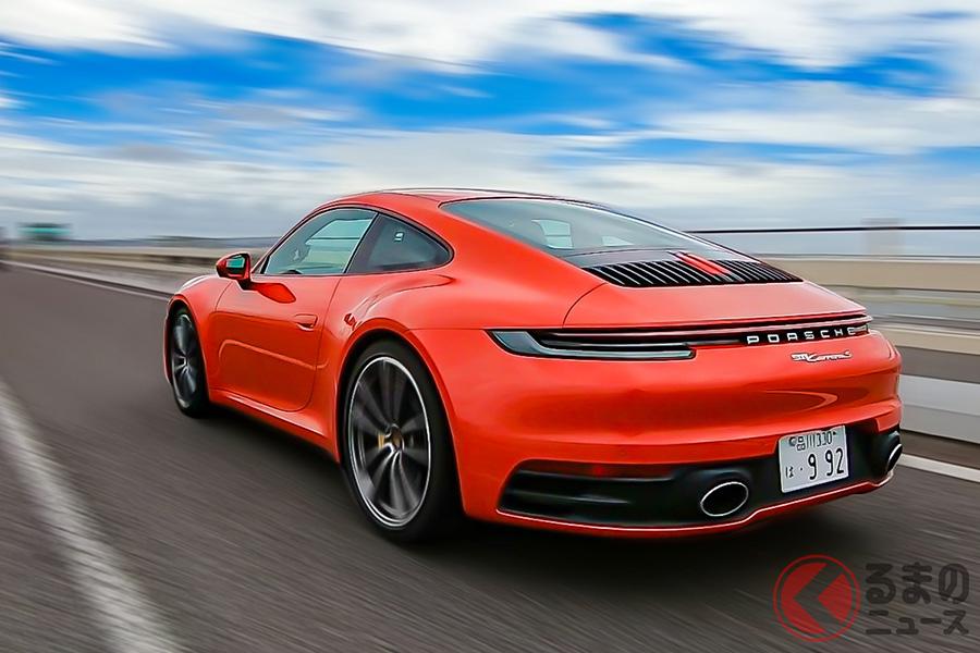 「911カレラS」の0-100km/h加速は、3.7秒、スポーツクロノパッケージだと3.5秒となる
