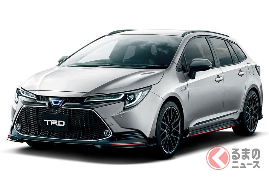 トヨタ新型「カローラツーリング」TRDパーツ装着車