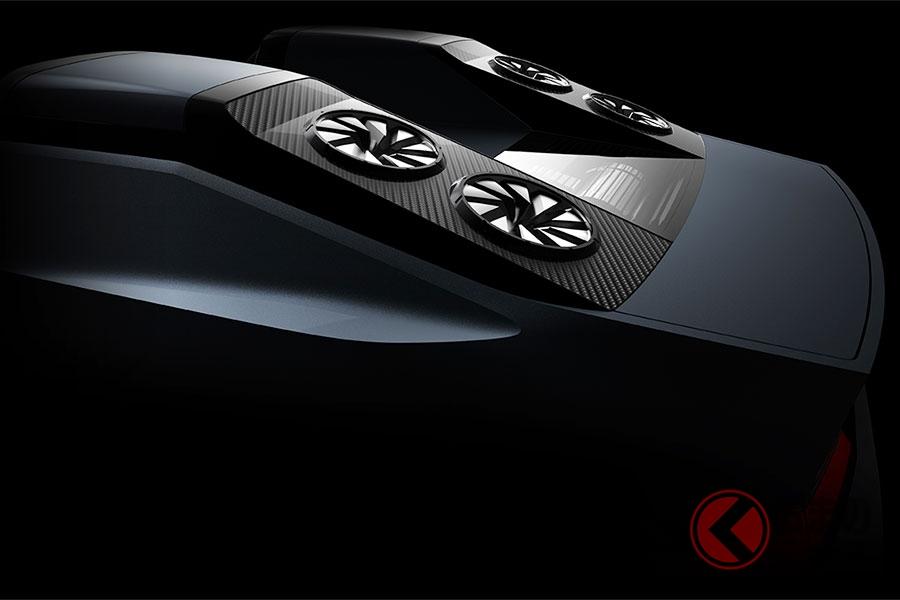 三菱が東京モーターショーで初公開する小型電動コンセプトカーのティザー画像