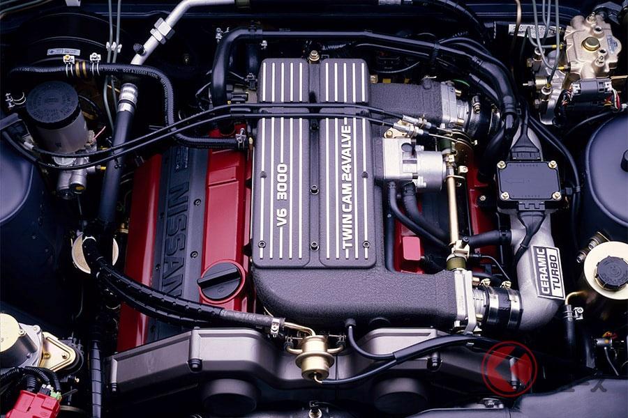 ドッカンターボの代表といえる日産「シーマ」のターボエンジン