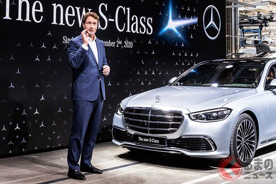 メルセデス・ベンツ新型「Sクラス」世界初披露の様子