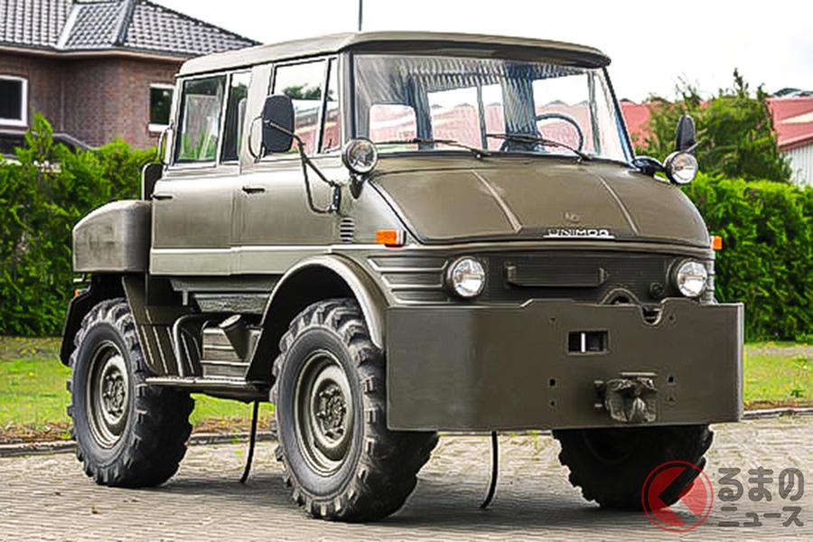 1974年にドイツ陸軍に納入されたメルセデス・ベンツ「ウニモグ406デュアルキャビン」(C)Bonhams 2001-2020